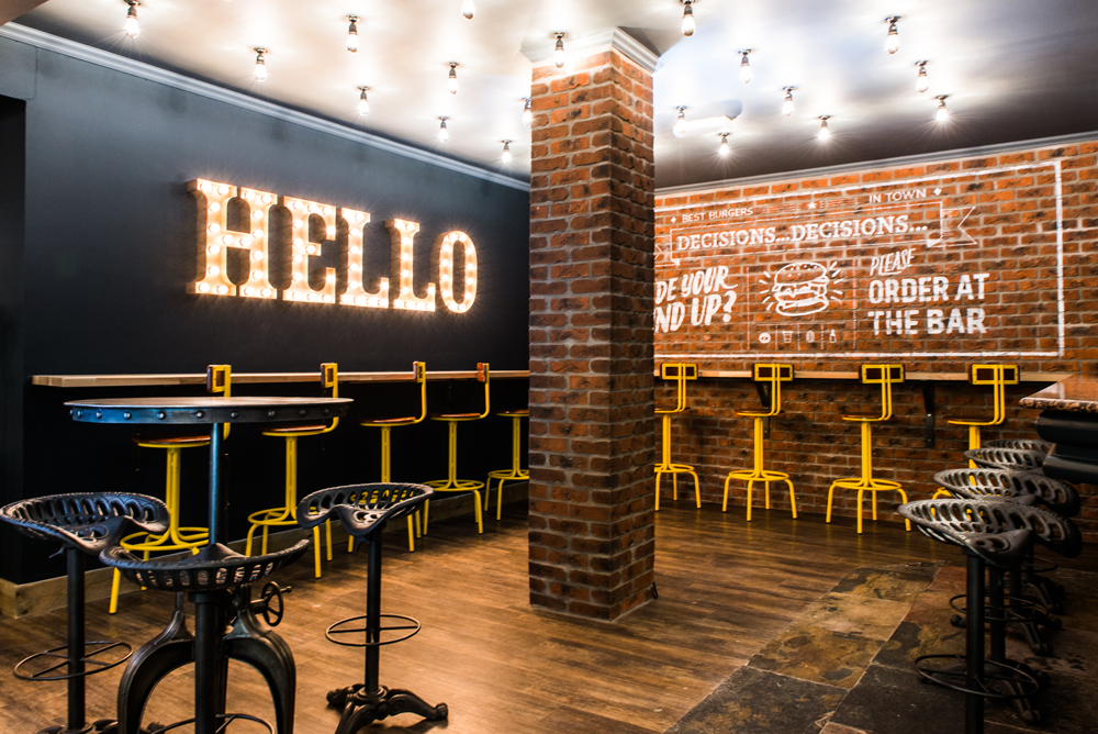 Dynargh design restaurant interior burger bar aviemore
